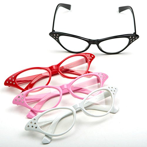 Cateye Glasses, Colors may vary