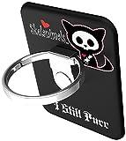 BUNKER RING Skelanimals (5 Character)バンカーリング  iPhone/iPad/iPod/Galaxy/Xperia/スマートフォン・タブレットPCを指1本で保持・落下防止・スタンド機能(Cat Black )