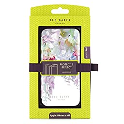 Official TED BAKER® SS16 Apple iPhone 6 / iPhone 6S Hard Shell Back Case / Cover for Women, Snap on Case for iPhone 6S - ELEETA - White / Floral