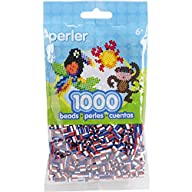 Perler Beads Patriotic Striped Beads (1000 Count)