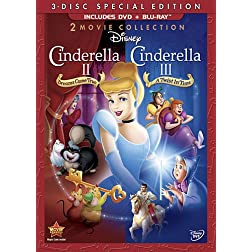 Cinderella II: Dreams Come True & Cinderella III: A Twist In Time (Three-Disc Blu-ray/DVD Combo in DVD Packaging)