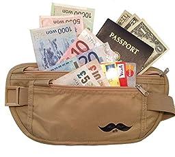 Special Rates - RFID Blocking Money Belt - Travel Wallet , Credit Card & Passport Holder, Safe, Undercover See Special Code Below