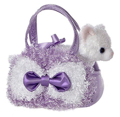 Aurora World Fancy Pals Lavender Curly Plush Toy Pet Carrier - 1