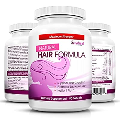 Vitamins for Hair Growth - Amazing Extra Strength Hair Supplement for Women & Man - Advanced Natural Formula for Faster Hair Growth, Thinning Hair & Hair Loss with BIOTIN for Regrowth Treatment- Perfect Gift for YOUR GLAMOROUS APPEARANCE...