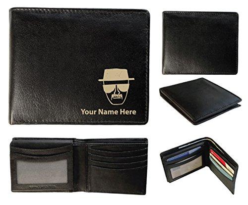 Personalizzato da uomo, in pelle, a portafoglio, colore Laser & Heisenberg Design con il proprio nome, Sandringham