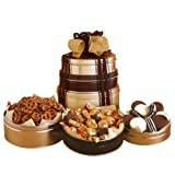 California Delicious Signature Snack and Chocolate Gift Tower, 4 Pound