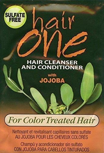hair-one-jojoba-pelo-limpiador-acondicionador-para-cabello-tenido-18-ml-paquetitos-paquete-de-4