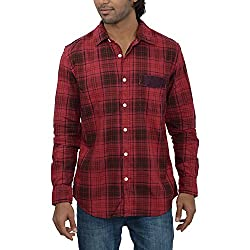 Inego Men's Casual Shirt (Lt.Indigo )
