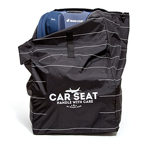car seat travel bag by plane jane for airline gate check with shoulder strap and durable nylon. Black Bedroom Furniture Sets. Home Design Ideas