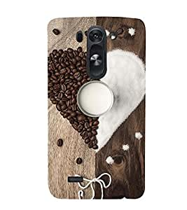 ASSORTED COFFEE BEANS AND SUGAR MAKING A HEART AND DEPICTING SWEETNESS 3D Hard Polycarbonate Designer Back Case Cover for LG G3 Beat :: LG G3 Vigor :: LG G3s :: LG g3s Dual