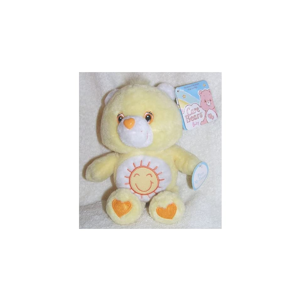 2006 Care Bears Baby 9 Plush Singing Funshine Bear   Simgs ABC Song