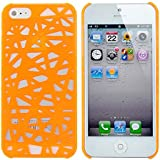 niceeshop(TM) Orange Bird Nest Rear Hard Case Cover for iPhone 5 5S +Screen Protector +Cable Tie