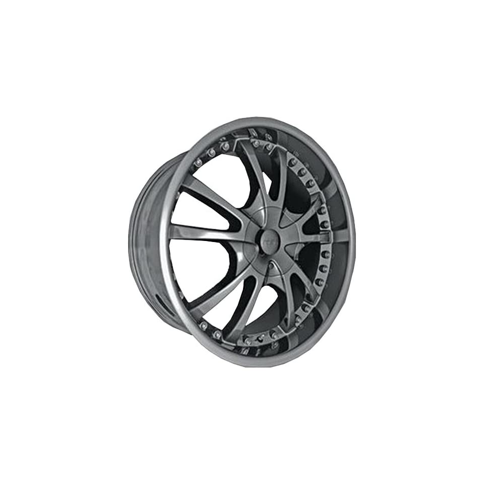 MST 520 22 Black Chrome Wheel / Rim 6x4.5 with a 15mm Offset and a 83.06 Hub Bore. Partnumber 520 22968