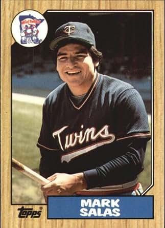 Baseball Card #87 Mark Salas Near Mint/Mint: Collectibles & Fine Art