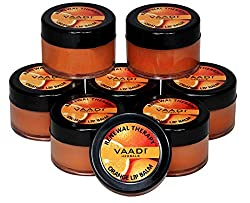 Vaadi Herbals Lip Balm, Orange and Shea Butter, 10gms x 8