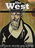 img - for The West: Encounters & Transformations, Volume 1: To 1715, Black & White (4th Edition) book / textbook / text book