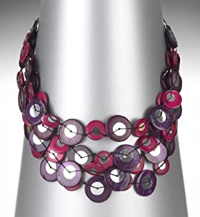 Multi-Strand Assorted Disc Necklace