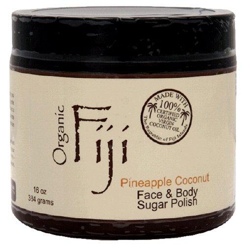 Organic Fiji Sugar Polish, Pineapple Coconut, 20-Ounces