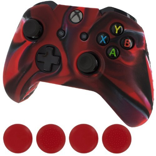 generic-new-silicone-cover-case-skin-controller-grip-stick-caps-for-xbox-onecamouflage-red-black-col