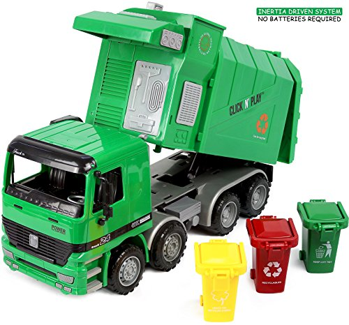 Click-N-Play-Friction-Powered-Garbage-Truck-Toy-with-Garbage-Cans-Vehicle
