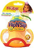 Nuby 2 Handle Flip n Sip Straw Cup, Colors May Vary, 8 Ounce, 9+ Months