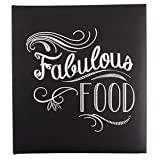 Eccolo Recipe Keeper, Fabulous Food (Color: Black)