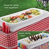 """KOVOT Inflatable Serving Bar and Buffet with Drain Plug 50""""L x 22"""" W x 5"""" Deep"""