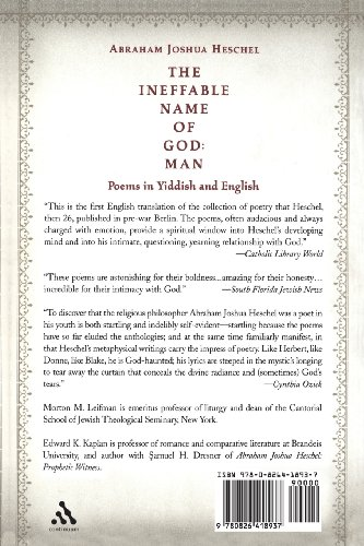 The Ineffable Name of God: Man: Man - Poems in Yiddish and English