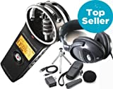 Zoom H1 2.0 Version Stereo Recorder MP3 Wave + APH-1 Zubehörset + Keepdrum LP307 Kopfhörer