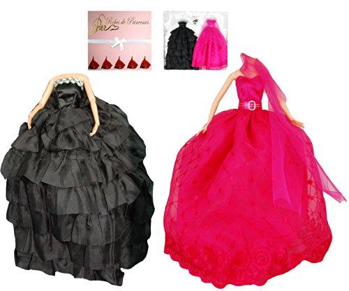 """Vestito da principessa """"DELICE"""" per Bambole Barbie, Disney ed altri personaggi"""