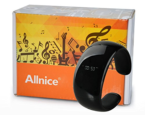 Allnice® L88 Smart Bluetooth Hands-Free Anti-Lost Smart Bracelet Watch Wristband With Microphone Oled Display Phone Call Answer Music Ringtone Caller Id For Apple Iphone 4 4S 5 5S 5C, Ipad 3, Retina & Mini Ipod Touch, Samsung Galaxy S3 S4 S5 Note 2 Note 3