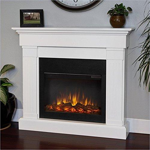Loyal Flame 8020E-W Crawford Electric Fireplace, White