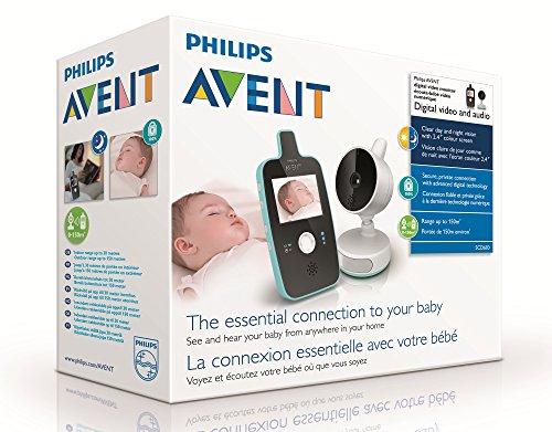 philips avent scd603 00 baby monitor con videocamera. Black Bedroom Furniture Sets. Home Design Ideas