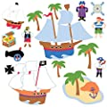 Wallies 15228 Olive Kids Pirates Wallpaper Mural, 2-Sheet