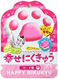 扇雀飴本舗 プニフワ幸せにくきゅうグミ ピーチ味 40g×6袋
