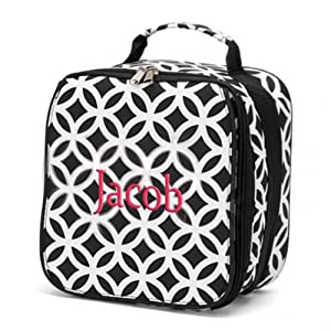 Amazon.com: aBaby Sadie Lunch Bag, Black, Name Jacob: Toys & Games