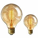 KINGSO 2pcs G80 40W Edison Lampadina Vintage Retro Stile Grande lampadina Globo con spirale di luce filamento della lampadina tappo a vite E27 per Casa Light Fixtures Decorativo