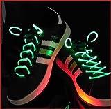 Amazon.co.jp光る靴ひも LED靴ひも LED ランニングシューズ 靴紐 -グリーン
