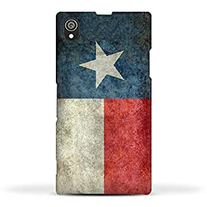 FUNKYLICIOUS Sony Xperia Z1 Back Cover Texas State Flag Retro vintage Design (Multicolour)
