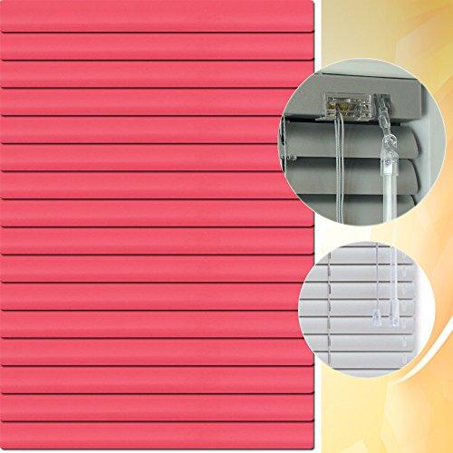 Aluminium Jalousie 200 x 130 cm (Breite x Höhe) – Lamellenfarbe 1403 himbeere // Maßanfertigung Alu Jalousien Jalousette Rollo Plissee