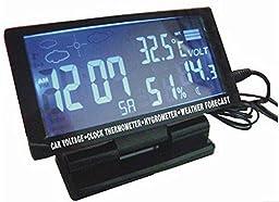 Car Temperature Thermometer LCD Digital Clock