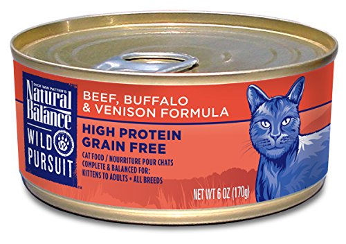 Natural Balance Wild Pursuit Beef, Buffalo & Venison Canned Cat Formula