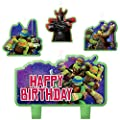 Teenage Mutant Ninja Turtle Birthday Cake Candle Set Party Supplies