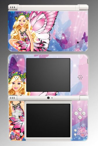 Barbie Fairy Princess Girl Game Vinyl Decal Cover Skin Protector 2 Nintendo DSi XL