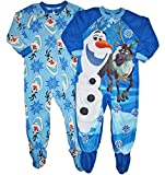 Disney Frozen Set of 2 Olaf Little Boys Blanket Sleeper Pajamas (4T)