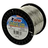 American Fishing Wire Stainless Steel Trolling Wire, 60-Pound Test/0.66mm Dia/835m