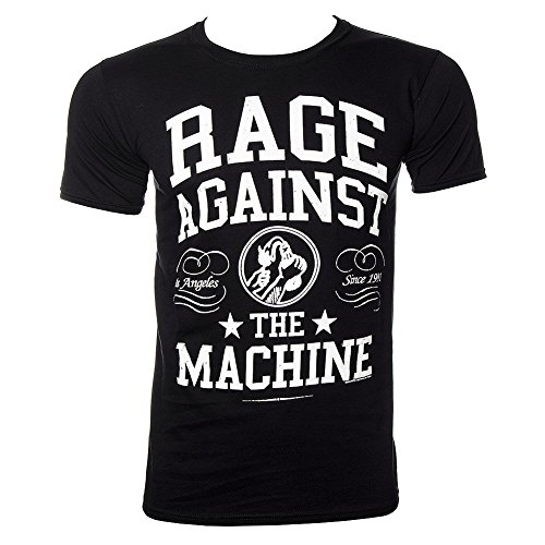 T Shirt Rage Against The Machine Crown College (Nero/Bianco) - Large
