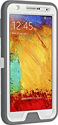 OtterBox Defender Series Case for Samsung Galaxy Note 3 - Retail Packaging - White/Gray