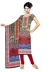 BalajiWomen's Crepe Unstitched dress material(202-multicolor-free size)