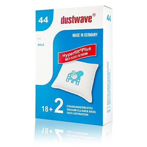 Sparpack - 20 Staubsaugerbeutel geeignet für Miele - EcoLine - S 5781 Bodenstaubsauger von dustwave® Markenstaubbeutel - Made in Germany + inkl. Microfilter